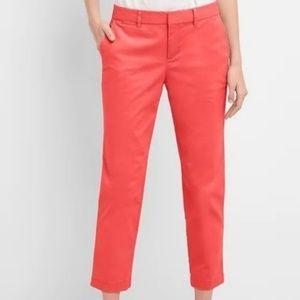 NWT GAP Slim City Crop Pants Cotton Blend Red 2R